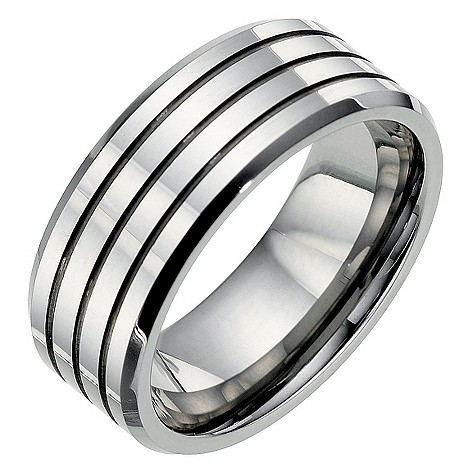 Tungsten three ridge ring