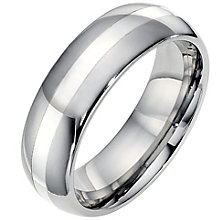 Men's tungsten & silver ring - Product number 9030077