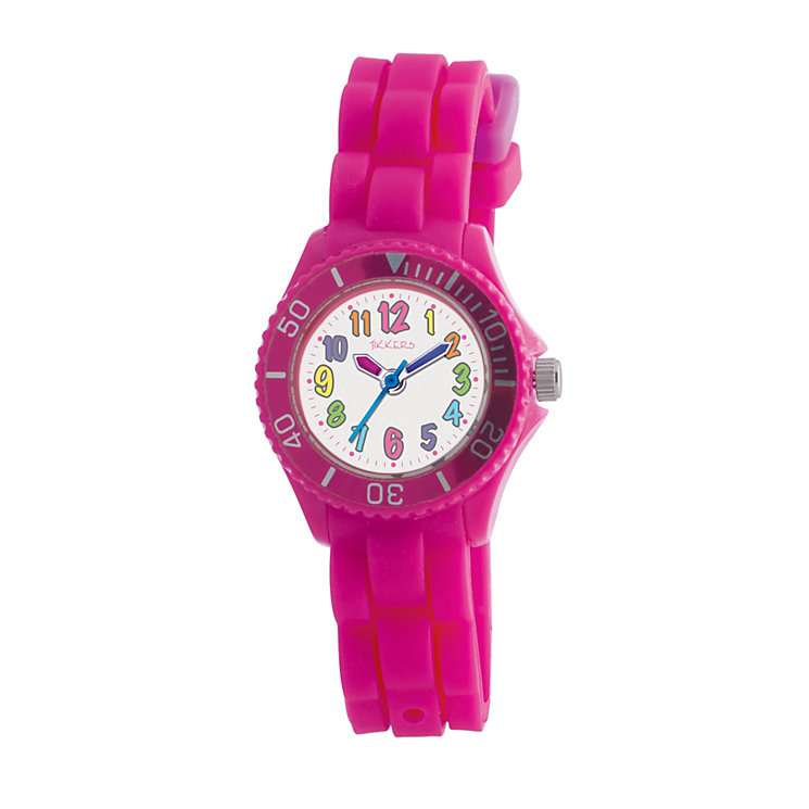 Girl's Pink Silicone Watch - Product number 9031782