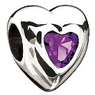 Miss Chamilia - silver heart February birthstone bead - Product number 9032649