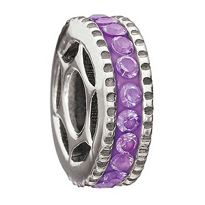 Miss Chamilia sterling silver purple cubic zirconia bead - Product number 9032819