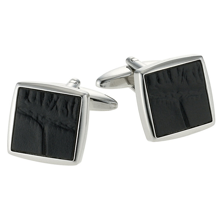 Gaventa men's black mock croc cufflinks - Product number 9033769