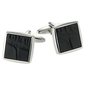Gaventa men's black mock croc cufflinks - Product number 9033769
