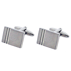 Men's Rectangular Stainless Steel Cufflinks - Product number 9033882