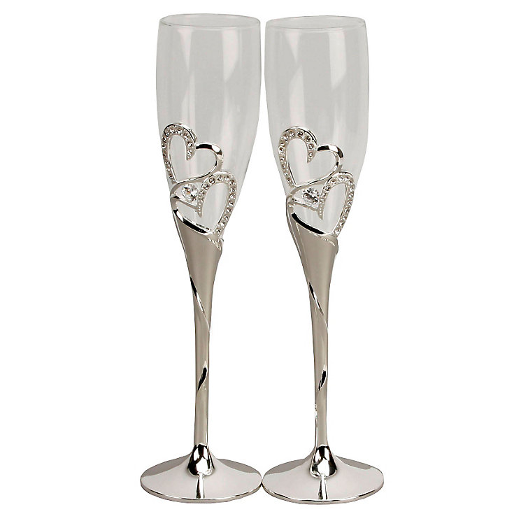 Special Memories Double Heart Champagne Flutes - Product number 9034285