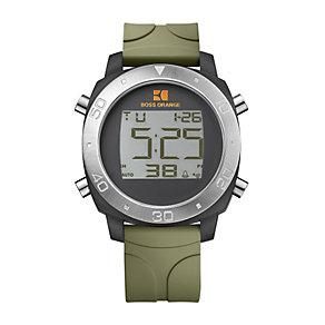 Boss Orange Khaki Strap Digital Watch - Product number 9034498