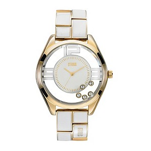Storm Ladies White Bracelet Watch
