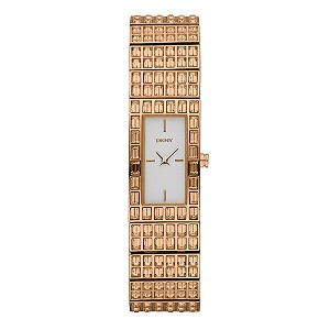 DKNY Ladies' Gold Plated Bracelet Watch - Product number 9036423