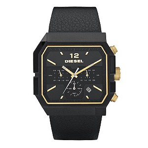 Diesel Men's Black Strap Watch - Size Medium