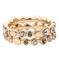 DKNY Gold Plated Stone Set Stacker Ring Set - Product number 9039252