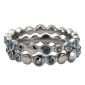 DKNY Blue Stone Set Stacker Rings