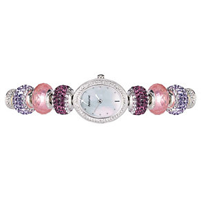 Charmed By Accurist Pink & Purple Charm Watch - Product number 9040161