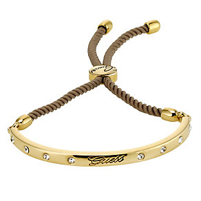 Guess Demi Stone Set Gold Plated & Taupe  Bracelet - Product number 9042474