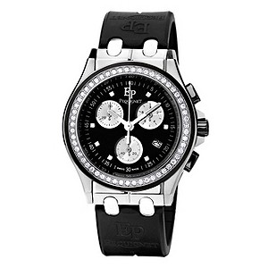 Pequignet ladies' diamond & black strap watch - Product number 9043063