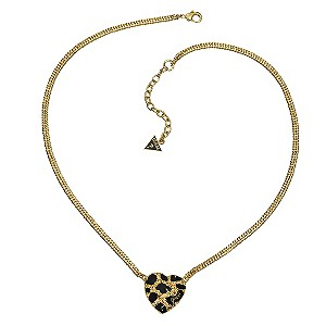 Guess Leopard Heart Necklace