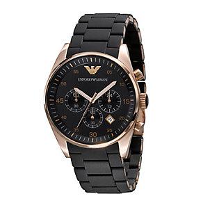 Emporio Armani men's black bracelet watch - Product number 9044752