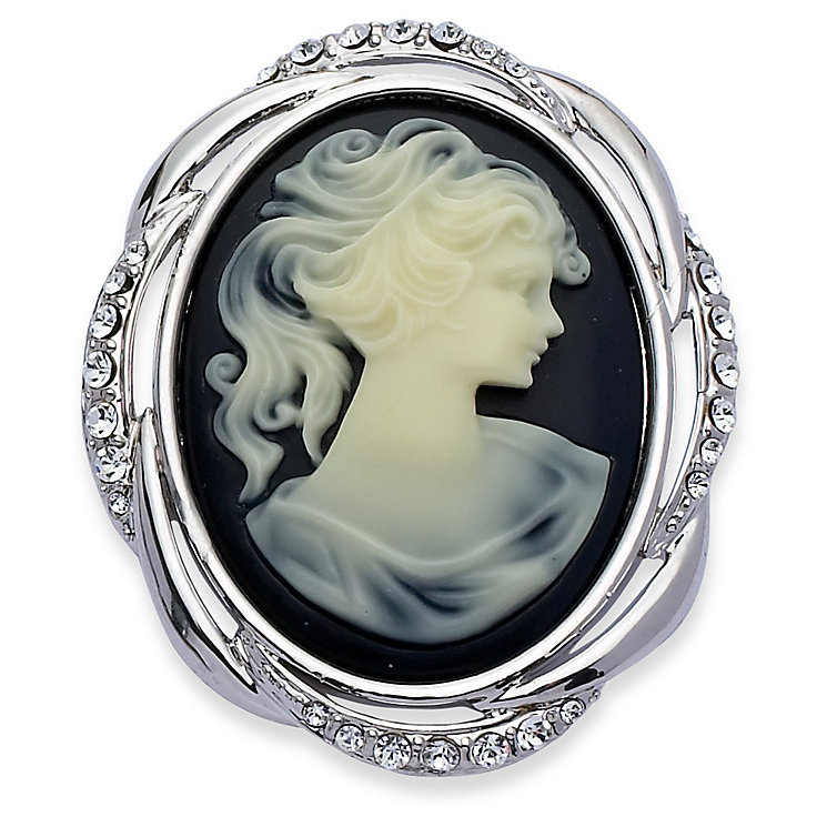 Black Cameo Effect Brooch - Product number 9045678