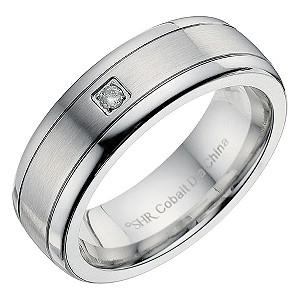 Cobalt Diamond Signet Ring
