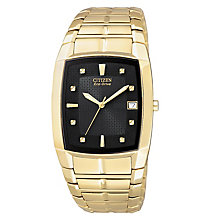 Citizen Eco-Drive Men's Gold Bracelet Watch - Product number 9054499