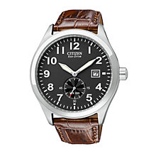 Citizen Eco-Drive WR100 Men's Brown Leather Strap Watch - Product number 9054545