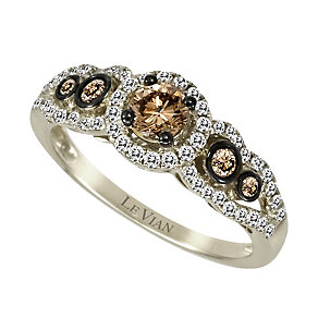Le Vian 14ct Vanilla Gold 0.76ct Chocolate Diamond ring - Product number 9056300