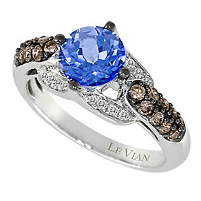 Le Vian 14ct Vanilla Gold diamond & blue topaz ring - Product number 9057366
