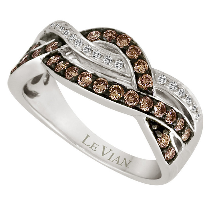 Le Vian 14ct Vanilla Gold crossover ring - Product number 9057625