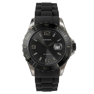 Sekonda Party Time Men's Black Strap Watch - Product number 9058486