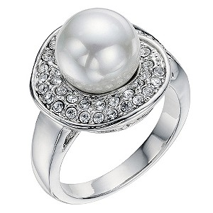 Pearl Effect & Crystal Ring - Product number 9058575