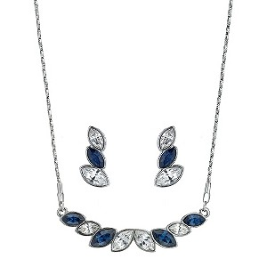 Sapphire & Clear Coloured Crystal Necklace - Product number 9058613