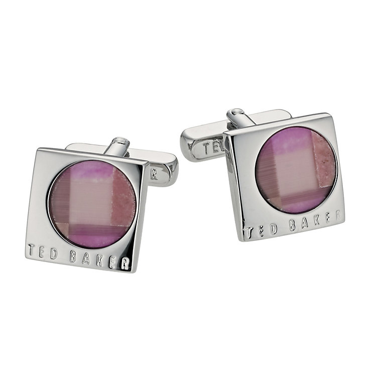 Ted Baker Renee pink mosaic cufflinks - Product number 9059385