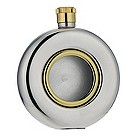 Gaventa bi-colour round 5oz hip flask, - Product number 9060227