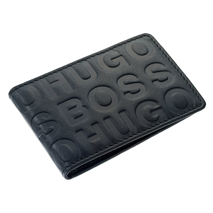 Hugo Boss black embossed logo card holder - Product number 9063099