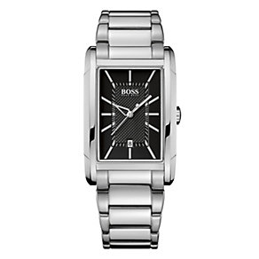 Hugo Boss men's stainless steel rectangle bracelet watch - Product number 9064362