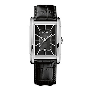 Hugo Boss men's stainless steel rectangle bracelet watch - Product number 9064370