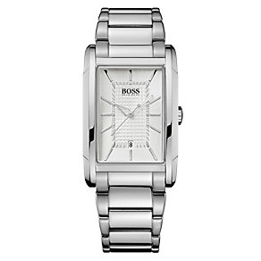 Hugo Boss men's stainless steel rectangle bracelet watch - Product number 9064389