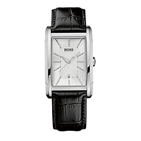 Hugo Boss men's stainless steel rectangular strap watch - Product number 9064397