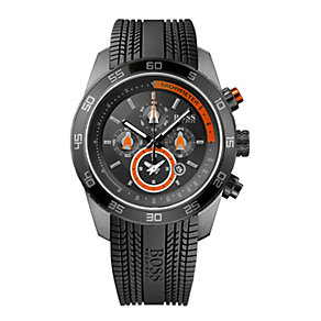 Hugo Boss men's stainless steel black chronograph watch - Product number 9064443