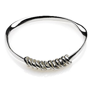 Eternal Silver mobius charm bangle - Product number 9069771