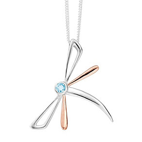 Clogau Silver & Rose Gold Dragonfly Pendant - Product number 9069941