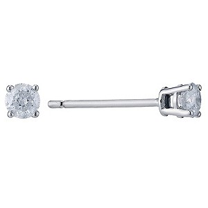 Platinum 1/2 carat diamond stud earrings - Product number 9073892
