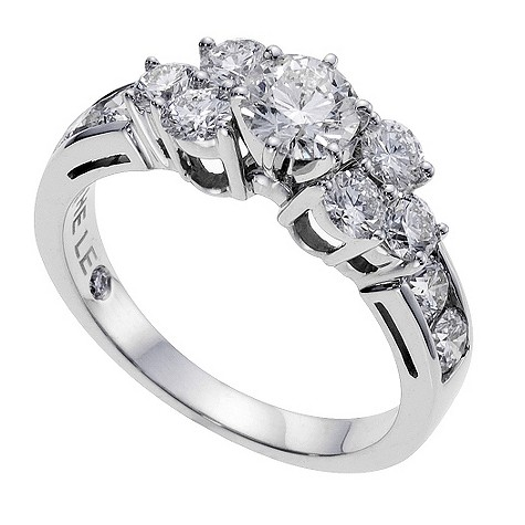 18ct white gold 1.75 carat Leo Diamond solitaire ring