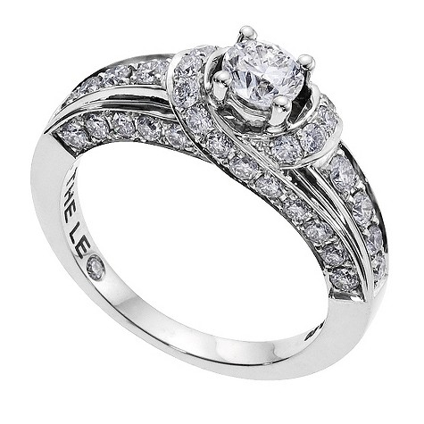 18ct white gold Leo Diamond solitaire