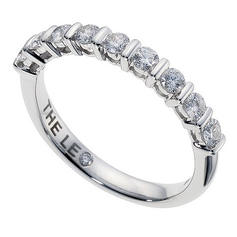 18ct white gold half carat Leo Diamond bar set eternity ring