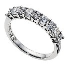 18ct white gold 1 carat Leo Diamond eternity band - Product number 9074317