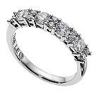 18ct white gold 1 carat Leo Diamond eternity band - Product number 9074317