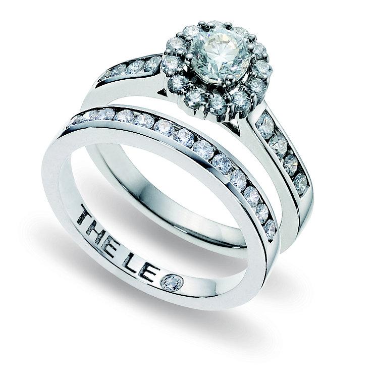 Leo Diamond 18ct white gold 1.25ct I- SI2 bridal set - Product number 9074449