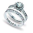 Leo Diamond 18ct white gold 1.25 carat diamond bridal set - Product number 9074449
