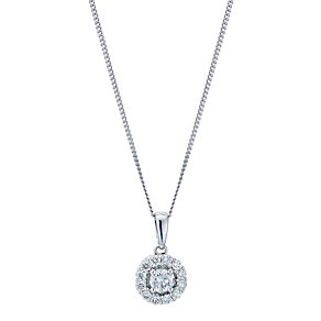 Leo Diamond 18ct white gold 0.50ct I-SI2 pendant - Product number 9074619