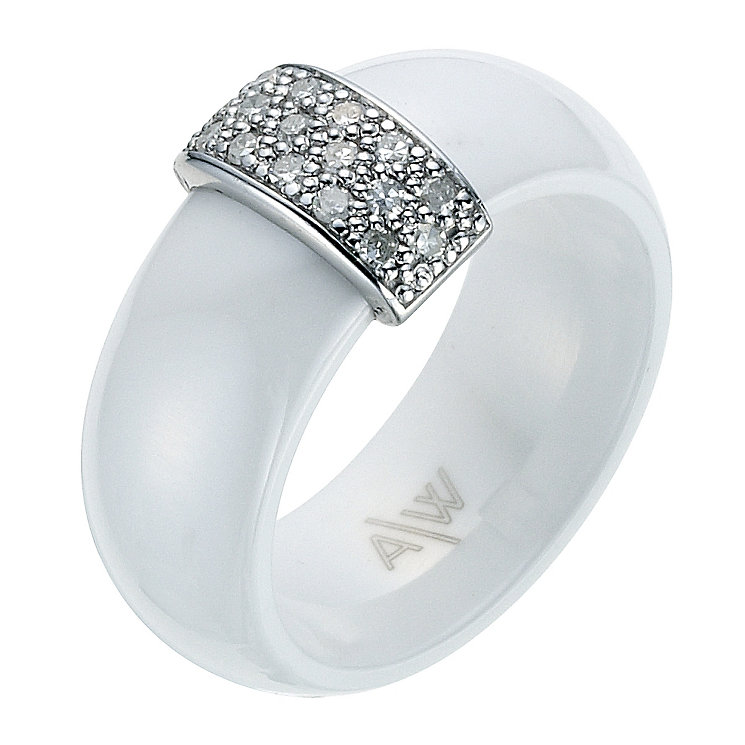 Amanda Wakeley white ceramic diamond ring - Product number 9075518